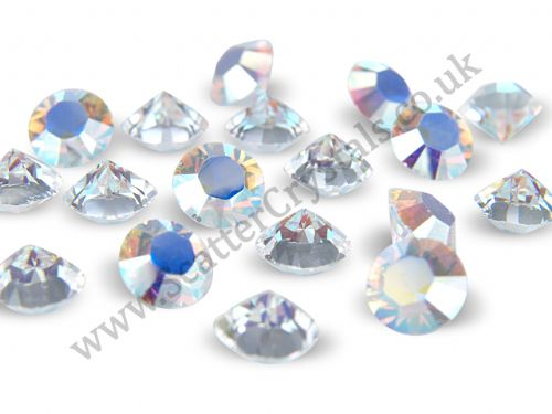 Pk 100 Swarovski Unfoiled Table Crystals, Style 1088, SS24 (5.5mm), Crystal AB